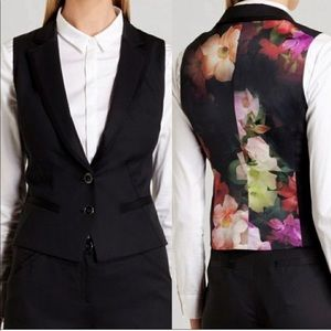 Ted Baker London Zamiaw Floral Black Vest